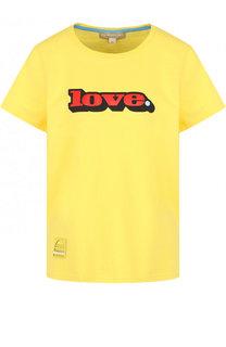 Хлопковая футболка с круглым вырезом и принтом Marc Jacobs