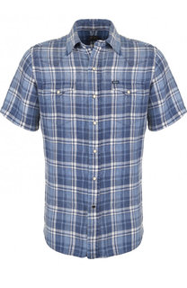 Льняная рубашка с короткими рукавами Polo Ralph Lauren