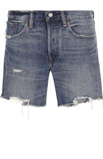 Джинсовые мини-шорты с потертостями Polo Ralph Lauren