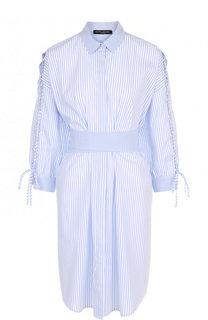 Хлопковое платье-рубашка с поясом Pietro Brunelli