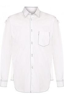Хлопковая рубашка с контрастной прострочкой Comme des Garcons