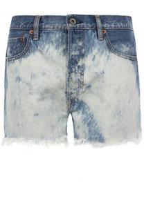 Джинсовые мини-шорты с потертостями Ralph Lauren