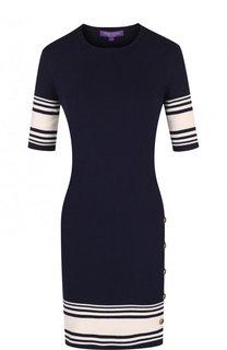 Вязаное мини-платье из смеси хлопка и кашемира Ralph Lauren