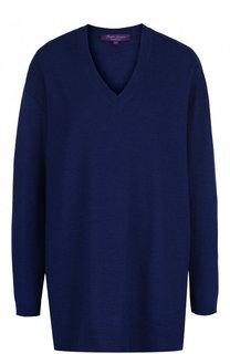 Пуловер из смеси шерсти и шелка с V-образным вырезом Ralph Lauren