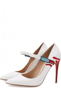 Кожаные туфли Valentino Garavani Lipstick на шпильке Valentino
