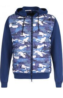 Хлопковая куртка на молнии с утепленной вставкой Paul&Shark Paul&Shark