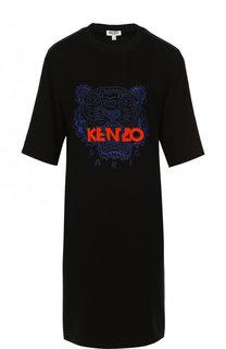 Платье-футболка с логотипом бренда Kenzo