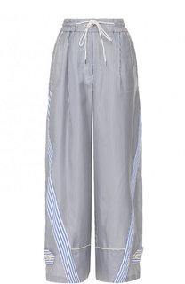 Укороченные широкие брюки в полоску Sacai