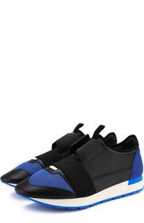 Комбинированные кроссовки Race с эластичной лентой Balenciaga