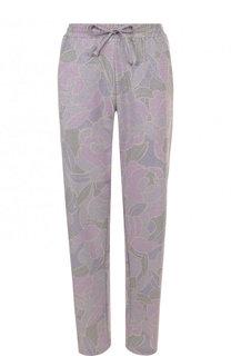 Укороченные брюки с принтом и эластичным поясом Dries Van Noten