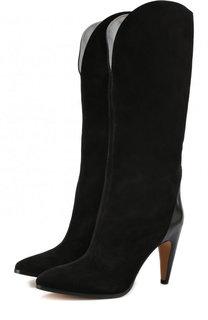 Замшевые сапоги на устойчивом каблуке Givenchy