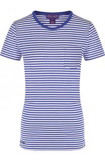 Хлопковая футболка в полоску с круглым вырезом Ralph Lauren