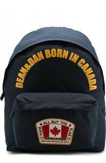 Текстильный рюкзак с принтом Dsquared2