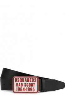 Кожаный ремень с металлической пряжкой Dsquared2