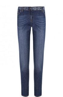 Укороченные джинсы-скинни с потертостями Kenzo