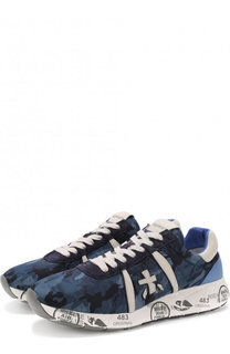 Комбинированные кроссовки Mattew с камуфляжным принтом Premiata
