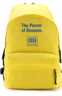 Текстильный рюкзак с принтом Balenciaga