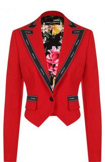 Укороченный шерстяной жакет Dolce & Gabbana