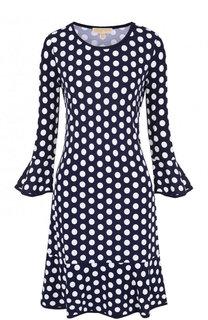 Приталенное мини-платье в горох MICHAEL Michael Kors