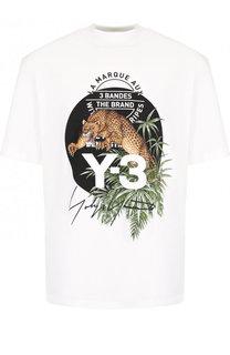 Хлопковая футболка с принтом Y-3