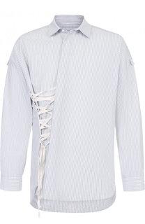 Хлопковая рубашка в полоску Damir Doma