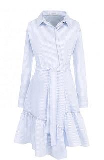 Хлопковое платье-рубашка в полоску Dorothee Schumacher