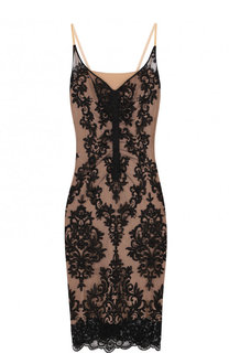 Приталенное кружевное платье-миди No. 21
