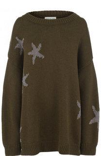 Удлиненный пуловер свободного кроя Dries Van Noten