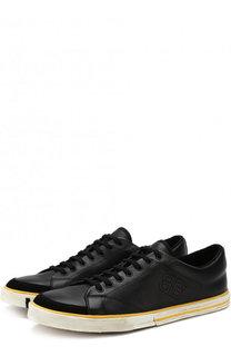Кожаные кеды Match на шнуровке Balenciaga