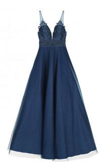 Приталенное платье-макси с пышной юбкой Basix Black Label