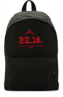 Текстильный рюкзак с внешним карманом на молнии Balenciaga