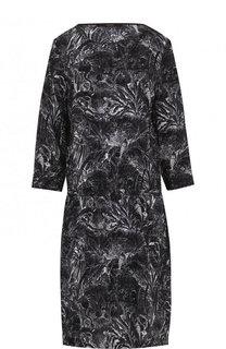 Приталенное шелковое платье с принтом Windsor