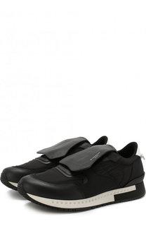 Кожаные кроссовки с декоративной отделкой Givenchy