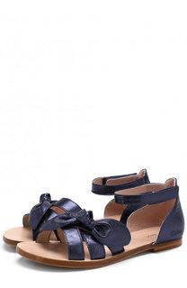 Кожаные сандалии с застежками велькро на щиколотке Chloé