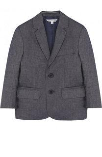 Однобортный пиджак из смеси хлопка и льна Marc Jacobs