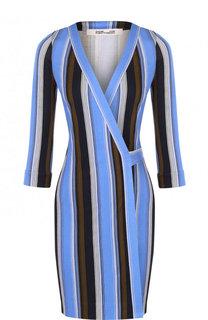Шелковое мини-платье с запахом Diane Von Furstenberg