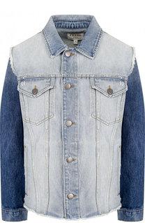 Джинсовая куртка с потертостями Frame Denim