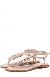 Кожаные сандалии Bella с оборками MICHAEL Michael Kors