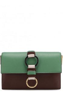 Кожаная сумка на цепочке Diane Von Furstenberg
