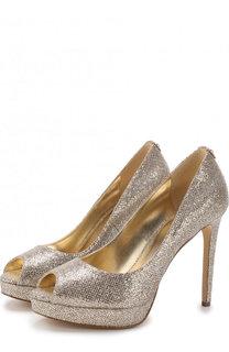 Туфли Erika из металлизированного текстиля на шпильке MICHAEL Michael Kors