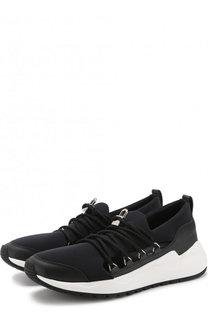 Комбинированные кроссовки на шнуровке Buscemi