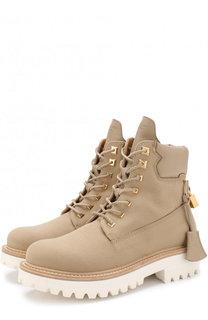Текстильные ботинки на шнуровке Buscemi