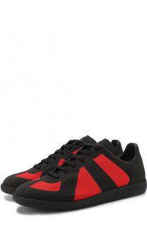 Текстильные кроссовки Replica на шнуровке Maison Margiela