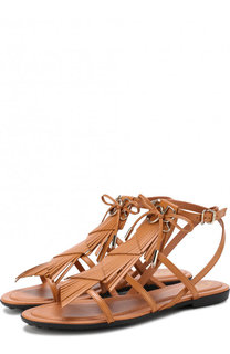 Кожаные сандалии с бахромой Tod's Tods