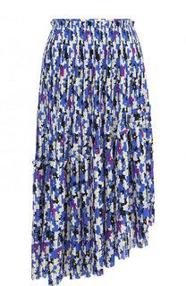 Плиссированная юбка асимметричного кроя Kenzo