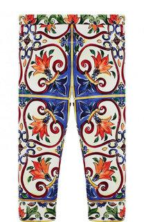 Хлопковые леггинсы с принтом Dolce & Gabbana