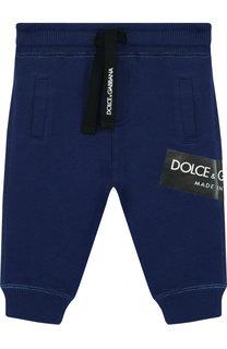 Хлопковые джоггеры с логотипом бренда Dolce & Gabbana