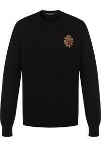 Хлопковый джемпер с вышивкой Dolce & Gabbana