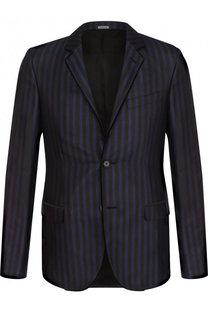 Однобортный шелковый пиджак Lanvin