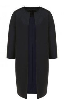 Пальто из смеси полиэстера и хлопка с круглым вырезом Tara Jarmon